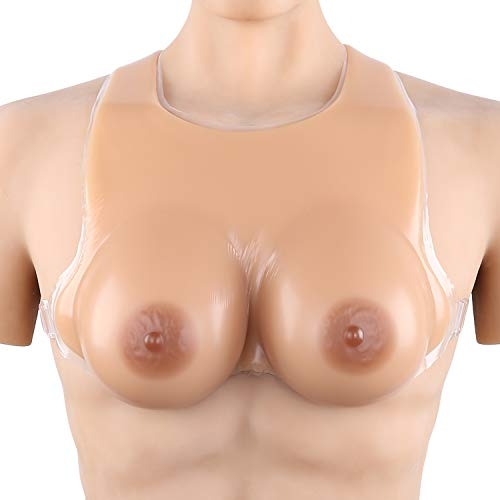 Vollence EE Cup Strap on Silicone Breast Forms for Transgender Individuals Breast Cancer Recovery Suntan