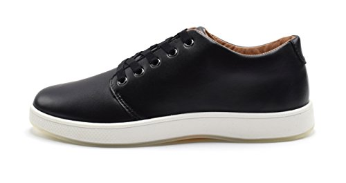 Aureus Mens Insignia Nubuck Leather Low Top Shoe Black W6ptKF9