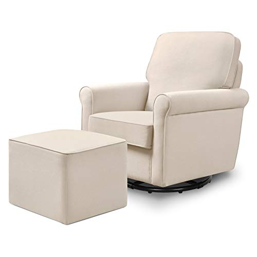 DaVinci Maya Upholstered Swivel Glider and Ottoman, - Upholstered Nursery Ottoman