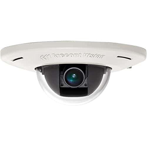 Arecont AV3455DN-F 3MP MicroDomeTM, Day/Night, 2048x1536, 21 fps, MJPEG/H.264, 4mm Fixed Lens, In-ceiling Flush Mount, Indoor, IK-10, Microphone, PoE