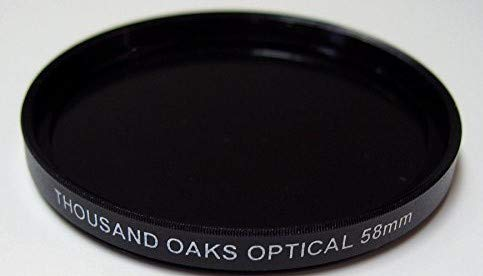 SL58-T - Threaded (SolarLite Film) Solar Filter for Camera by Thousand Oaks Optical