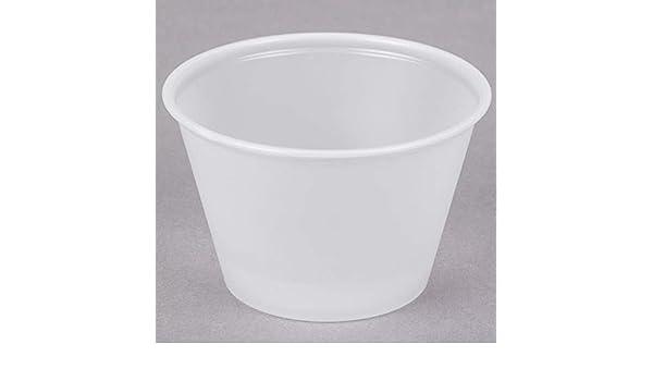 NEW Box Of 2500 Solo P400 Souffle Plastic Portion Cup 4oz Translucent Jello Shot