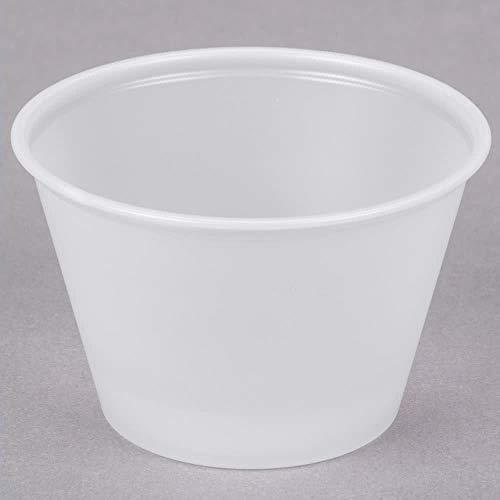 (4 oz Plastic Souffle Cup Translucent - 2500 per case)
