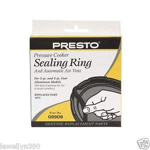 Presto 09909 Pressure Cooker Canner Gasket Sealing Ring & Auto Air Vent Genuine