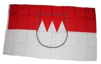 17011 Flaggenking Franken Flagge//Fahne mehrfarbig 150 x 90 x 1 cm