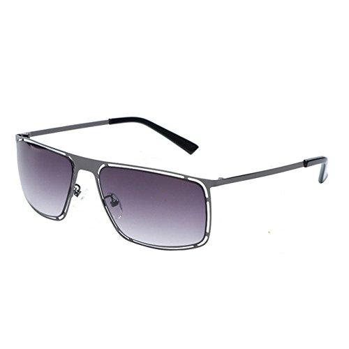 décoratifs Black de Lunettes Uv400 lunettes lunettes purple soleil protection soleil de femmes hommes de carrées and et métalliques mode la aXa7rT1