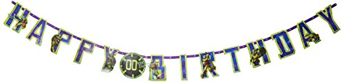 Teenage Mutant Ninja Turtles Jumbo Banner, 1 Piece, Made from Paper, Parties,Celebrations, 10 1/2 feet X 10
