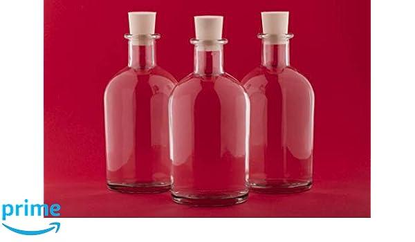casa-vetro 12 o 24 Unidades, 100 ML Botellas de Cristal vacío New de 100 de Bost Kleine Farmacia de Botella con Cierre de Corcho, 100 ML, Vidrio, Blanco, ...
