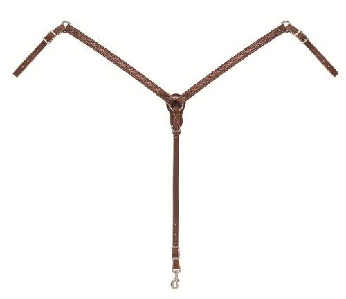 WeaverレザーブートステッチスリムBreast襟、サンセット、1インチ   B00BL8PTRY