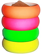 "4 Pack 1980s Style Costume Bracelets 1"" Soft Bangles"