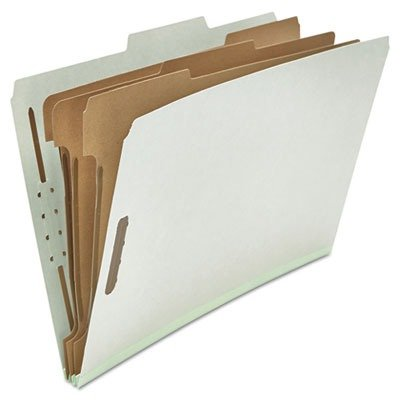 (3 Pack Value Bundle) UNV10297 Pressboard Classification Folder, Legal, Eight-Section, Gray, 10/Box
