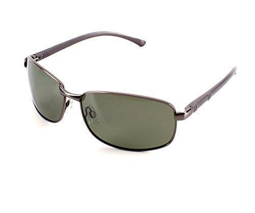 Herren Alu Sonnenbrille Polarisierend Piloten Matrix Fram Aviator New Wayfahrer, Rahmenfarbe:Grau