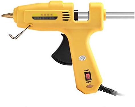 CHenXin- ホットメルトグルーガン、60-100Wのダブルパワーグルーガン、15本の25スティック50本の強力なスティックのり、工芸学校、家庭、迅速な修理をDIYに適した使用、黄色 ホットグルーガン (Color : 50 glue stick)