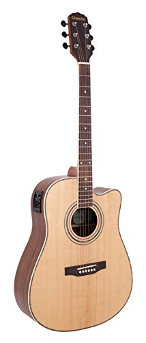 Giannini Guitars GP-2 CEQ N Ovangkol Back and Sides Acoustic-Electric Guitar