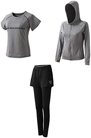 レディースジャージ上下セット スウェットパンツセット女性の3ピーススポーツ長袖スーツ (Color : Green, Size : M)