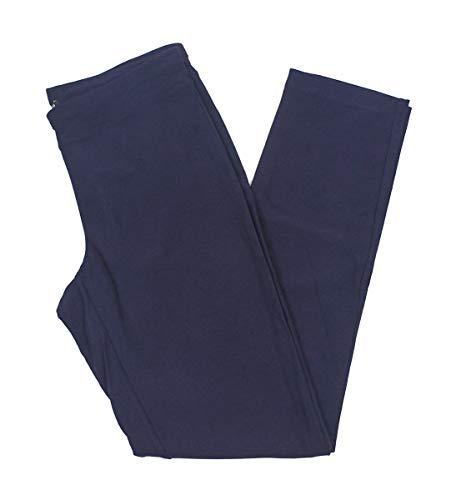 Eileen Fisher Washable Stretch Crepe Slim Ankle Pant w/Yoke Waistband (L, Salt Lake)