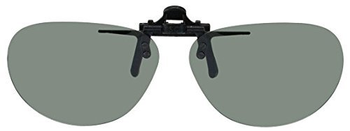 Polarized Clip-on Flip-up Plastic Sunglasses - Oval - 54m...