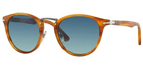Persol Unisex Sunglasses, Brown Lenses Acetate Frame, ()