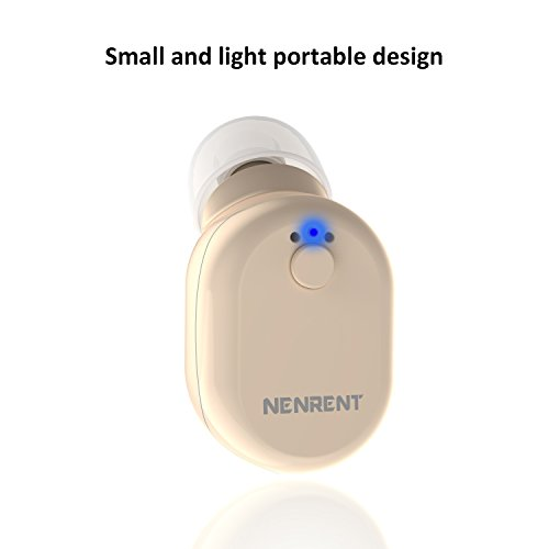 NENRENT S610 Bluetooth Earbud, Smallest Mini V4.1 Wireless Bluetooth Headset Headphone Earphone with Mic Hands-Free Calls for iPhone iPad Samsung Galaxy LG HTC and Other Smartphones (Nude)