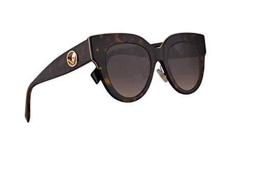 Fendi FF0360/G/S Sunglasses Dark Havana w/Brown Gradient Lens 51mm 086HA FF 0360/G/S