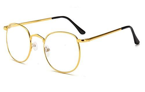 Mujeres de de Gafas marco Moda sol aire libre Gafas redondo protección sol Gafas de FlowerKui al metal Hombres Golden de UV400 de Zg5qxwInY