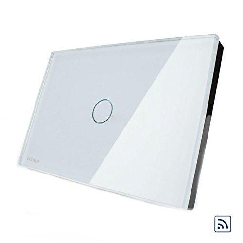 HTAIYN Weiße Kristallfernbedienung und Touchscreen-Schalter VL-C301R-81 AC110-250V LED-Licht