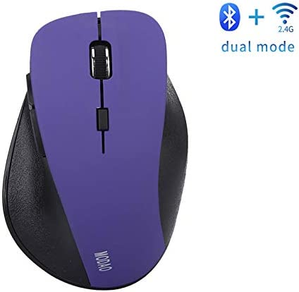 Purple Bluetooth 4.0 /& 2.4G Dual Mode Optical Mouse for PC//Laptop//Mac JAY-LONG Ergonomics Wireless Gaming Mouse 2AAA 800//1200//1600Dpi Adjustable