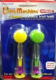 Price comparison product image 2 pack of Oralgiene 60 Second Time Machine Compact Replacement Brush Heads