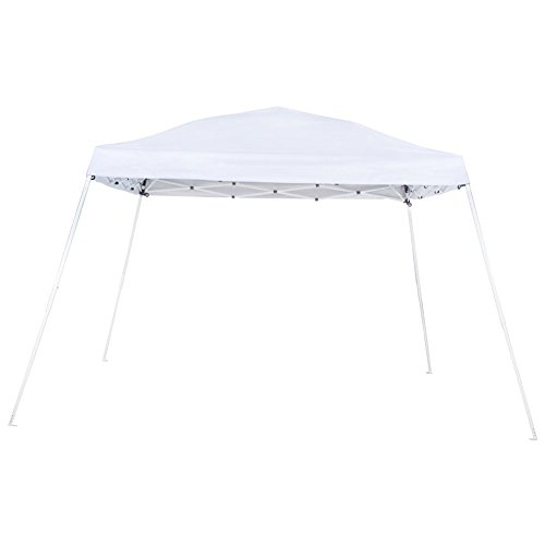 Abba Patio Slant Leg Instant Pop Up Folding Canopy with Roller Bag, 9 x 9 ft, White
