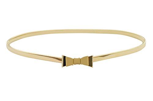 [해외]E- 클로버 귀여운 바둑 매듭 금속 버클 스키니 스트레치 허리 벨트 드레스/E-Clover Cute Bowknot Metal Buckle Skinny Stretch Waist Belt For Dress