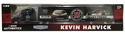 Kevin Harvick Metal - NASCAR Authentics Kevin Harvick #4 Transporter / Hauler - Stewart-Haas Racing Team Hauler Transporter Semi Tractor Trailer Rig Truck 1/64 Scale - Metal Cab Plastic