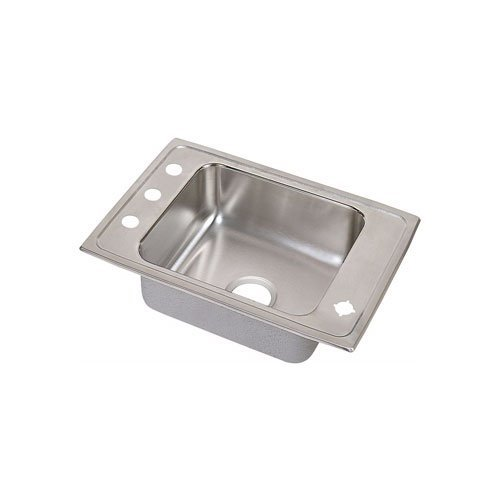Single Classroom Elkay Bowl Sink (Elkay DRKAD2517552FRM Lustertone Stainless steel 25