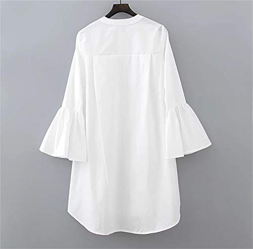 Mode Longues Robes Robes Boutons Manches Longues Sexy Manches Longues Manches White et Lizes Robes dFxq0wBdg