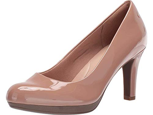 CLARKS Women's Adriel Viola Pump, Praline Synthetic Patent, 75 W US