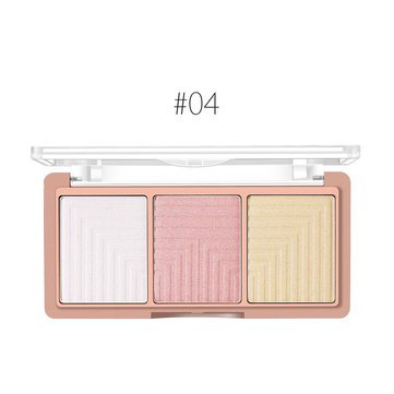 3 Face Highlighter Shading Powder Palette Maquiagem Bronzer Glow Kit - Face Loose Powder - -