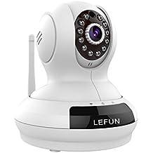 lefun cámara inalámbrica, grabación de vídeo Baby Monitor Cámara de vigilancia IP HD 720P WIFI de niñera Cam Play/Plug Pan Tilt Mando a Distancia Alerta de detectar movimiento con audio bidireccional y visión nocturna por infrarrojos