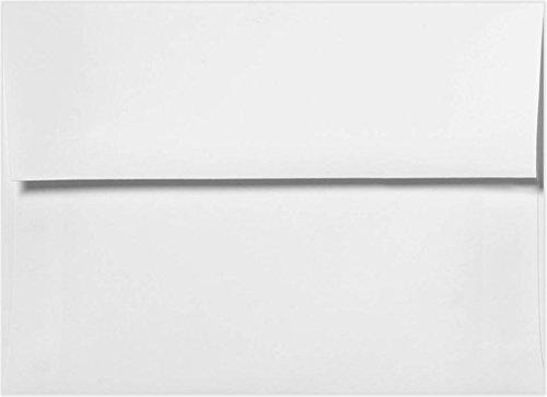 1000 A4 White (4 1/4'' x 6 1/4'') 4x6 Wedding Shower Announcement Photo Envelopes by CNC INC