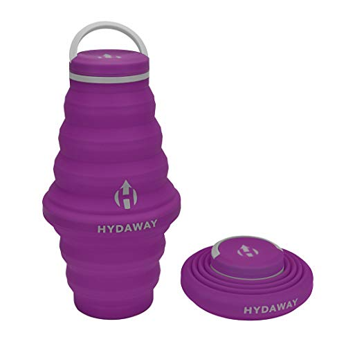HYDAWAY Collapsible Water Bottle, 25oz Cap Lid | Ultra-Packable, Travel-Friendly, Food-Grade Silicone