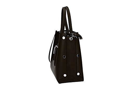 Made Bag shoulder strap PIERRE VN2661 Italy leather CARDIN hand in woman moro ffAqT8