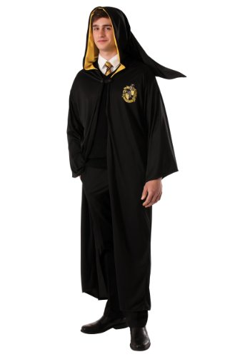 Rubie's Men's Harry Potter Deathly Hollows Hufflepuff Adult Costume Robe, Black, One Size