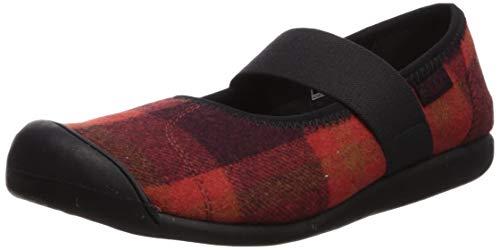 KEEN Women's Sienna MJ Plaid Shoe, Red/Black, 10 M US (Keen Shoes Women Mj)