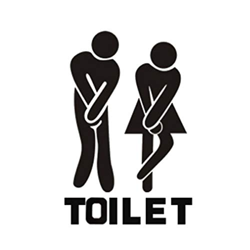 1 piece Toilet Entrance Sign Decal Vinyl Sticker For Shop Office Home Cafe Hotel Toilet Bathroom Wall Door Decoration -
