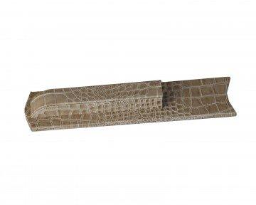 Dacasso Protacini Breeze Beige Italian Patent Leather Library Set Holder