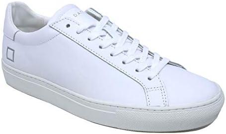D.A.T.E. Chaussures Baskets Femme en Cuir Blanc M321-NW-CA-WH