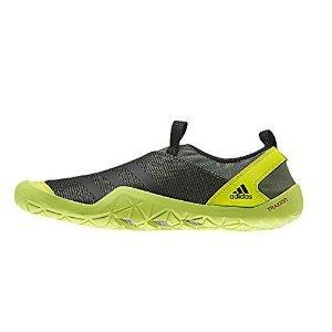 adidas Outdoor Climacool Jawpaw Slip On Water Shoe - Men's Base Green/Black/Semi Solar Yellow 12