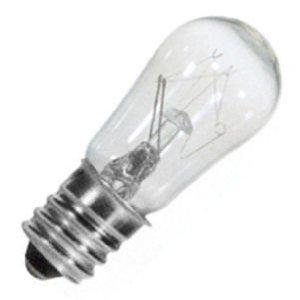 - (12 Pack) 6-Watt S6 Sign Indicator Candelabra (E12) Base 6S6 Incandescent Light bulb