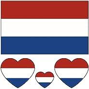 40pcs Country Flag Temporary Tattoos National Flag Football Soccer Team Decal Stickers, European Football Cham
