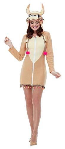 Ladies Cute Sexy Llama Animal On Trend Hen Night Festival Carnival Fancy Dress Costume Outfit UK 4-18 (UK 12-14)]()