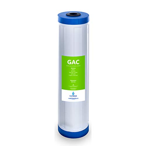 "Express Water - Granular Activated Carbon Replacement Filter - GAC Large Capacity Water Filter - Whole House Filtration - 5 Micron - 4.5"" x 20"" inch"