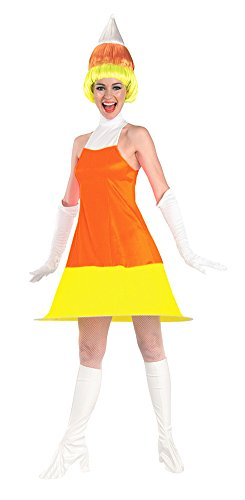 BESTPR1CE Candy Corn Adult Costume Adult Womens Costume